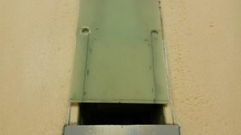 Inside corners drilled for radius