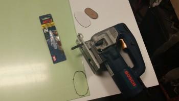 Cutting nose wheel viewing window