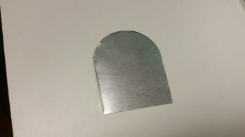 Taxi light door bracket backing cut