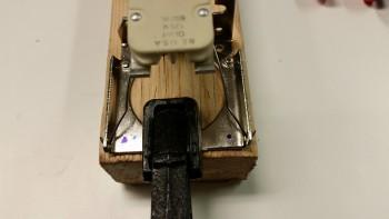 Drilling taxi light bracket rivet holes