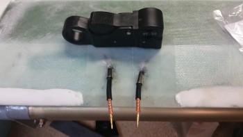 Terminating canard antenna leads