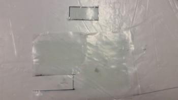 Prepregged 1-ply BID for bottom bolt holes