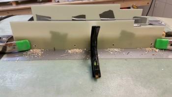 Door-to-hinge mount bolt holes drilled