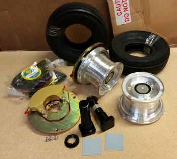 Main gear wheels, brakes, tubes & tires