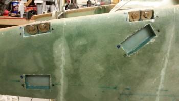 Upper bolt troughs floxed & glassed