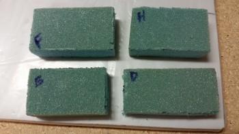Upper bolt trough foam insert covers