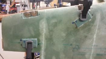 L foam bolt trough inserts micro'd in place