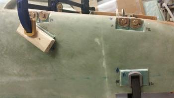 R foam bolt trough inserts micro'd in place