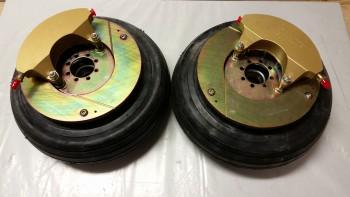 Brake assemblies mounted to wheels