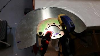 Drilling Left side gear heat shield
