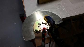 Drilling Right side gear heat shield