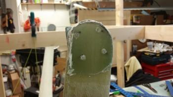 Left side axle BID pad trimmed