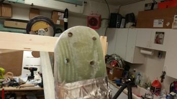 Right axle BID pad needs sanding
