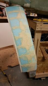 Right gear fairing foam rough shaped