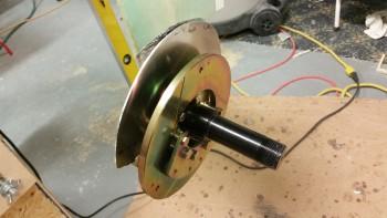 Left brake rotor & assembly installed