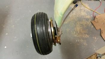 Right stainless steel brake line installed