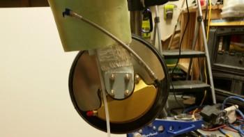 Left stainless steel brake line installed