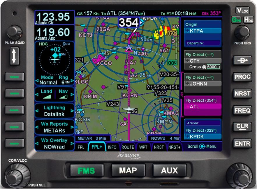 Avidyne IFD540 GPS Navigator