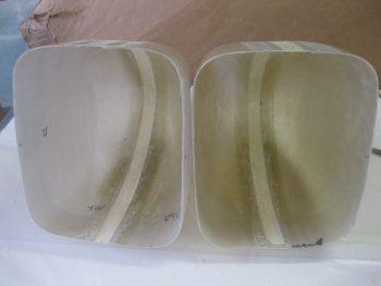 """1"""" foam spacer & hot glue removed"""