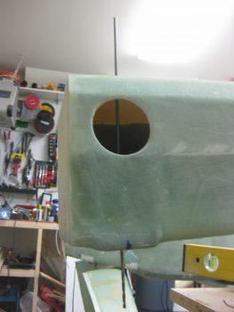 Front spar pilot holes drilled