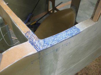 Sanding down sidewall for canard