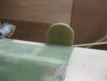 Left upper tab razor trimmed