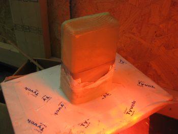 Curing tool box lid layup