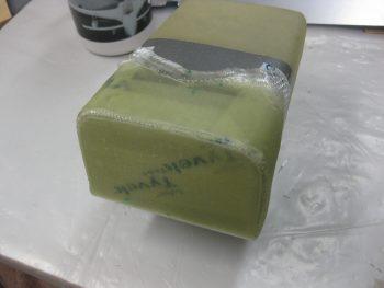 Tool box lid layup cured