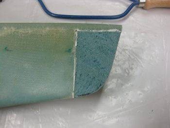 Shaping GIB armrest front edge