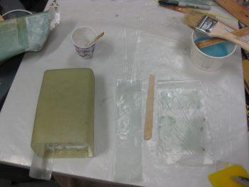 Glassing inside tool box & GIB armrest