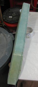Initial cut line on left GIB armrest