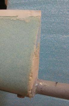 Right elevator pour foam rough shaped
