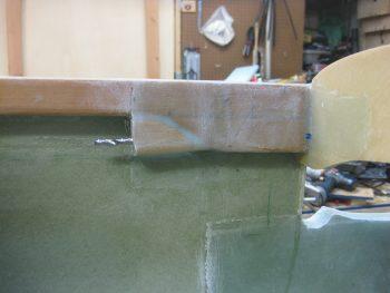 Left longeron doubler & extension drilled