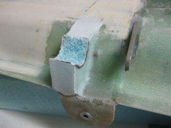 Prepping filler piece for torque tube offset