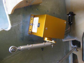 AP pitch servo mounted