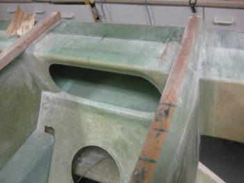 Sanding in prep for glass