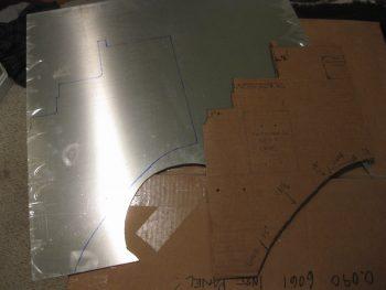 Marking Triparagon sheet aluminum