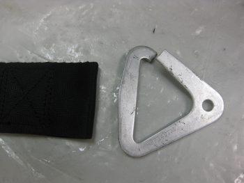 Seatbelt straps free of brackets