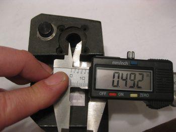 Current throttle joystick hole mount diameter